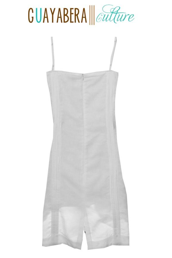 JMP Straps Female White Guayabera Dress Back 1