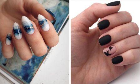 маникюр, дизайн ногтей, гельлак, шеллак, ногти, ноготки, френч, нюд, градиент, зима, зимний мникюр