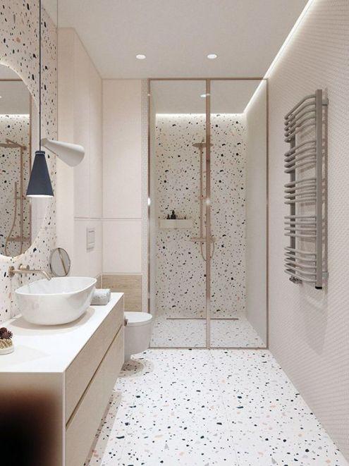 ванная, терраццо, интерьер, тренды, 2020, ремонт, дизайн, мода, 10 трендов
