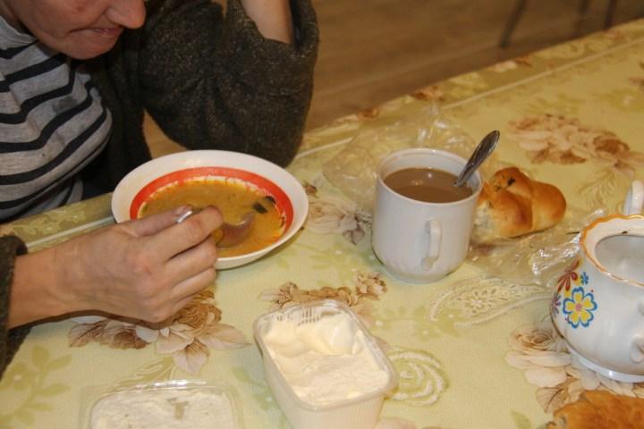 женщина, суп