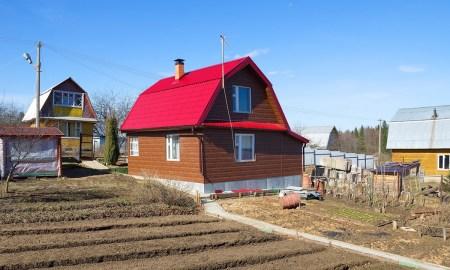 дача, весной, весна, дом, загородный дом, участок, деревня