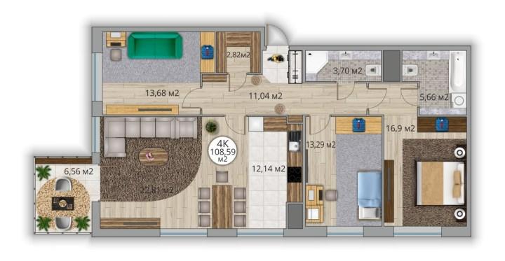 карелия, петрозаводск, квартира, однушка, новостройка, строительная компания век, двушка