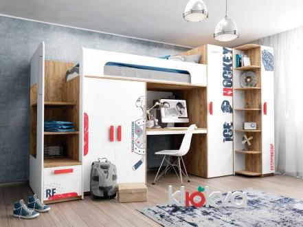 клюква, доминант, детская, комната, мебель, гарнитур, комплект мебели, для детской, идеи, дизайн, для мальчика, для девочки, петрозаводск, карелия, хоккей