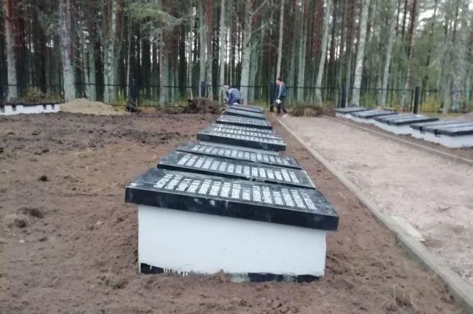Реконструкция братской могилы. Фото: monuments.karelia.ru