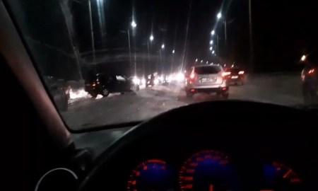 На дороге ночью столкнулись несколько машин