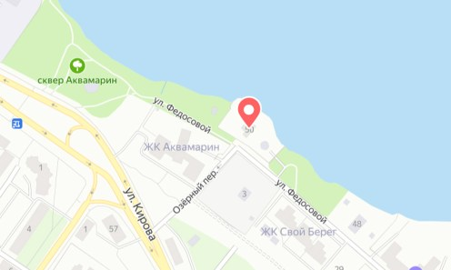 Карта, с местом, где самый дорогой дом в Петрозаводске, Центр