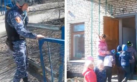 Коллаж: кадр из видео. Детский сад закрывают в Суоярви