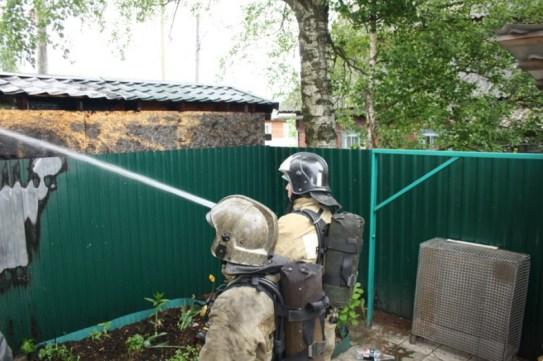 Баня сгорела на окраине Петрозаводска