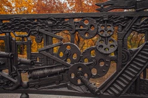 памятник гаскойну, осень, петрозаводск