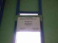 Struktur kepengurusan Perpustakaan Nagari Kelurahan Kampung Jawa, Solok.