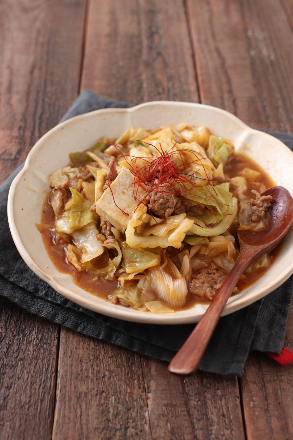 【レシピ】キャベツの麻婆豆腐