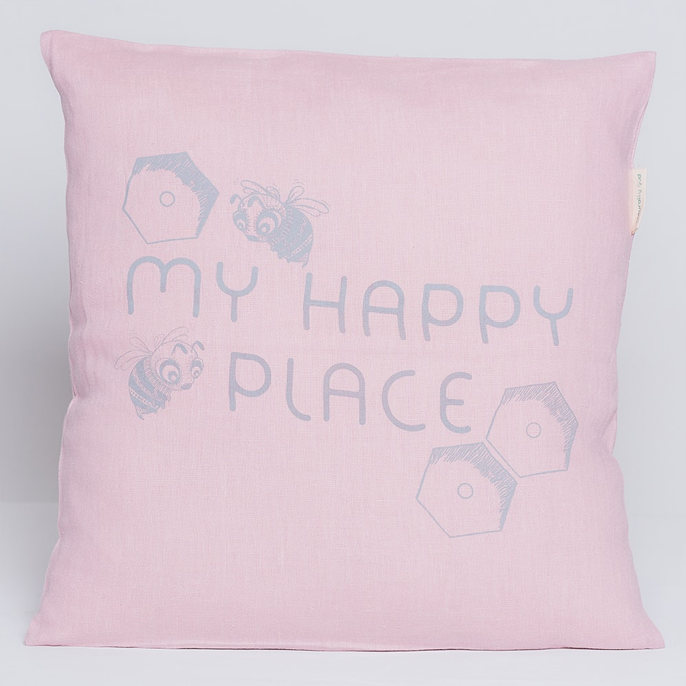 https gudbaby com product light pink decorative pillow case busy bees