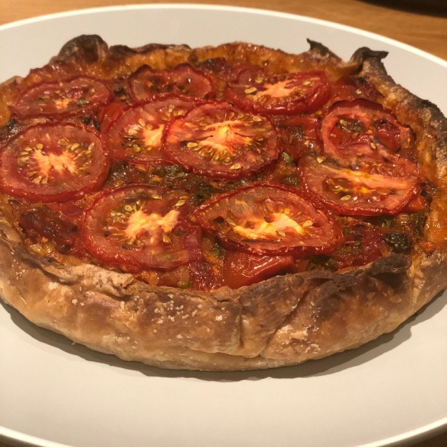 Indian spiced tomato pie