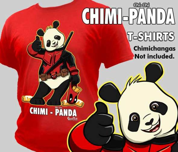 ChiChi Cosplay Panda as Deadpool