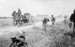 1st Middlesex transport hit by shrapnel at The Battle of The Marne