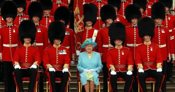 The Queen with the Grenadier Guards