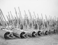 Rollers at the Agricultural Directorate farm, Roye, 9 March 1918.