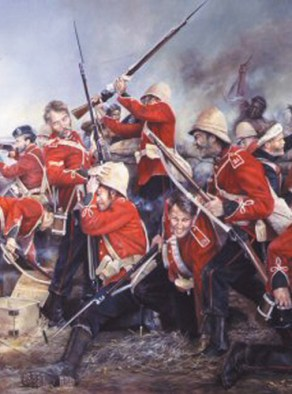 Red Coats at Rorkes Drift 1879
