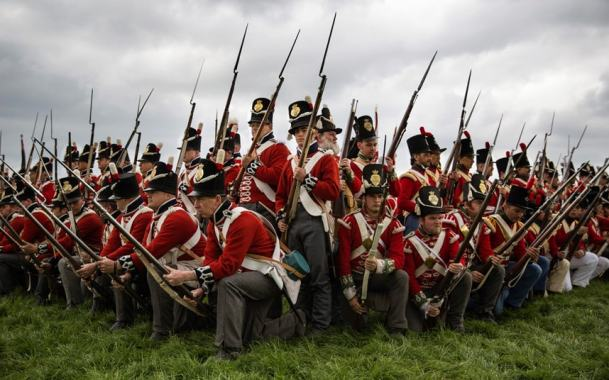 Redcoats renacters at Waterloo