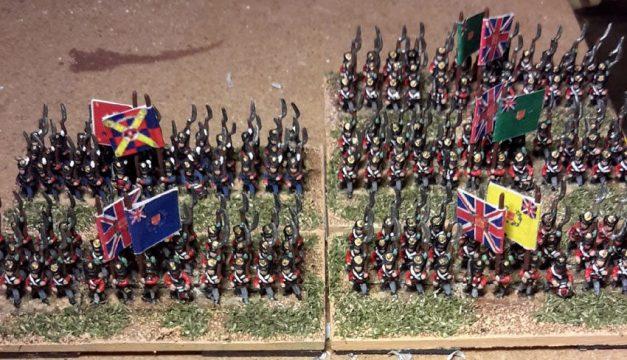 Britanniques et Portugiais guerre d'Espagne (figurines Baccus 6mm)