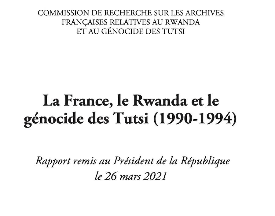 Extrait - Couverture Rapport Duclert - Rwanda