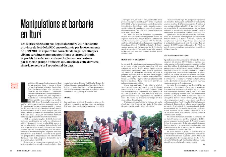 Manipulations et barbarie en Ituri