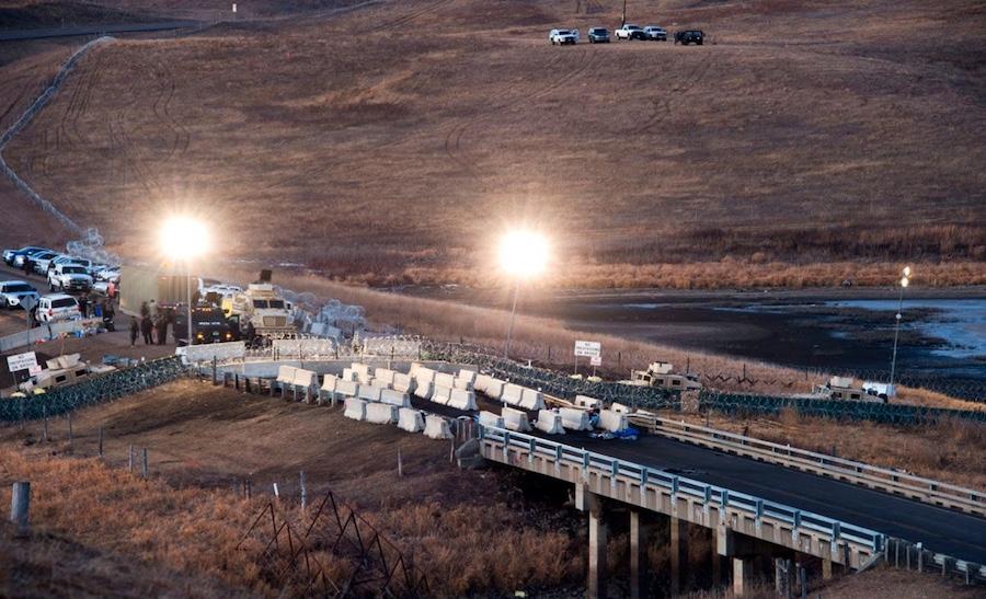 Standing Rock: Highway 1806 - Blocked