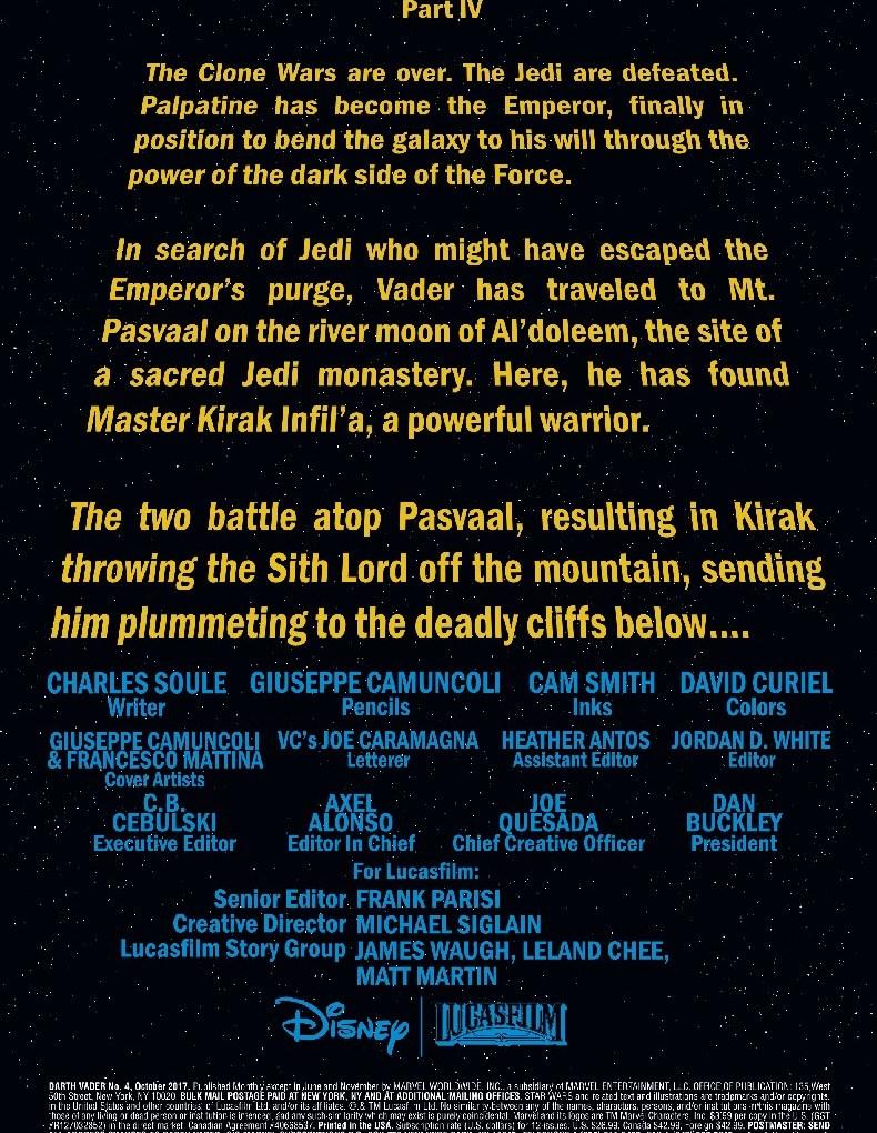 Vader #4 crawl