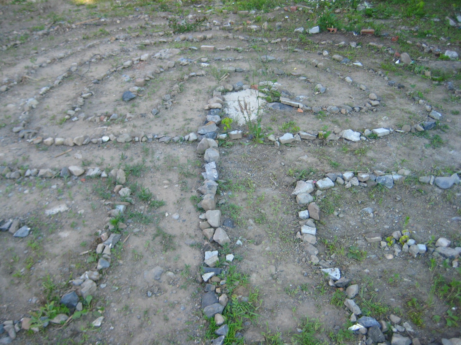 Classic Rock Labyrinth in an abandoned lot after a few hours work