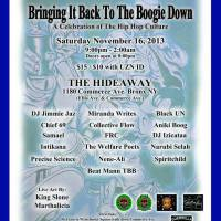 BRINGING IT BACK TO THE BOOGIE DOWN ( A CELEBRATION OF THE HIP HOP CULTURE )