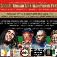 20TH ANNUAL AFRICAN AMERICAN FAMILY FESTIVAL / SEPT 26-27 /WILMINGTON DE