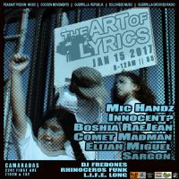 THE ART OF LYRICS : JAN 15TH BACK EN EL BARRIO OF COMARADAS IN EAST HARLEM