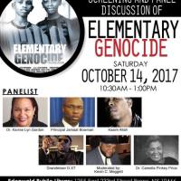 SCREENING AND PANEL DISCUSSION OF: ELEMENTARY GENOCIDE OCT 14TH IN BRONX NY
