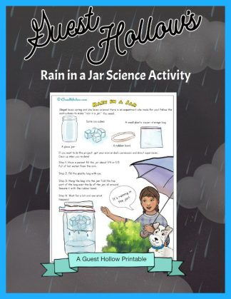 Rain in a jar science activity