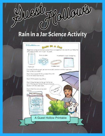 Rain in a jar science activity