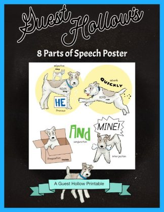 8 Parts of Speech Poster