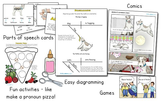 Homeschool grammar activities and games