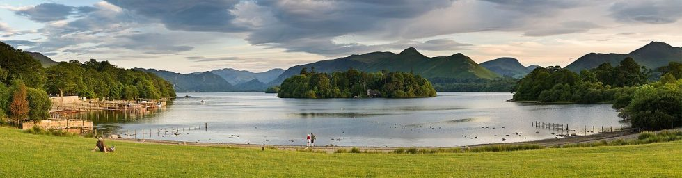Derwent Water as viewed from the northern shore of Keswick  (in the Lake District)
