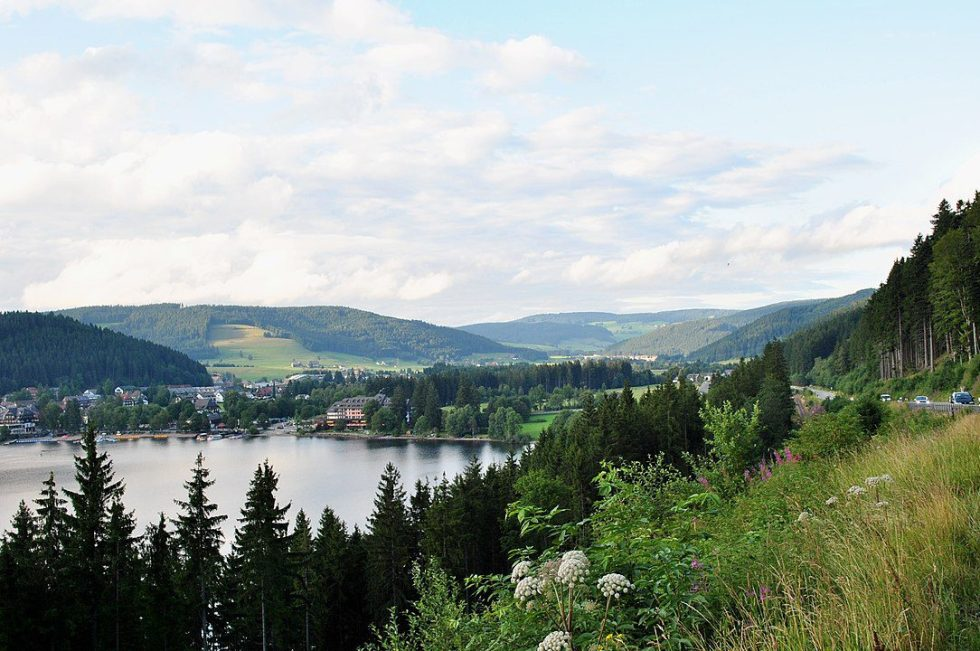 Lake Titisee in the Black Forest of Germany (located in the Central Uplands region)