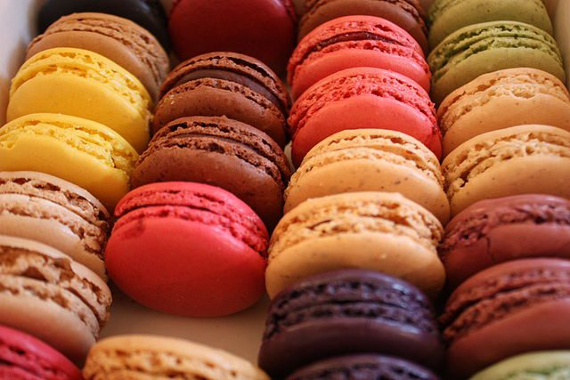 Macarons are a sweet meringue-based confection.
