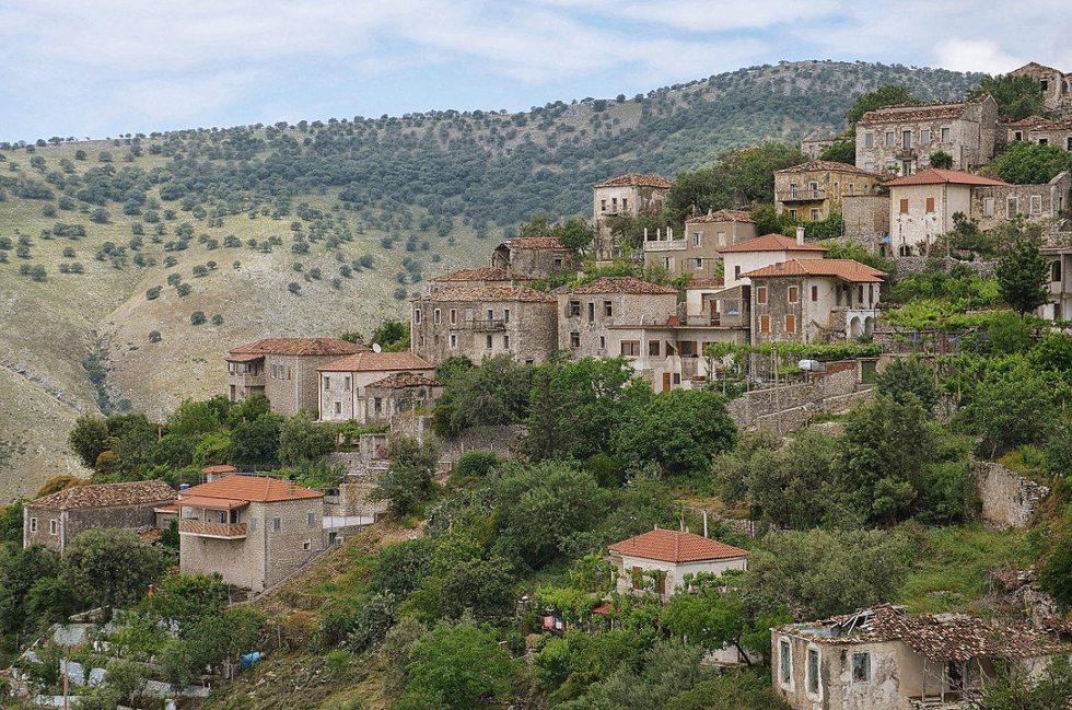 View on Qeparo i Sipërm, Himarë, Albania