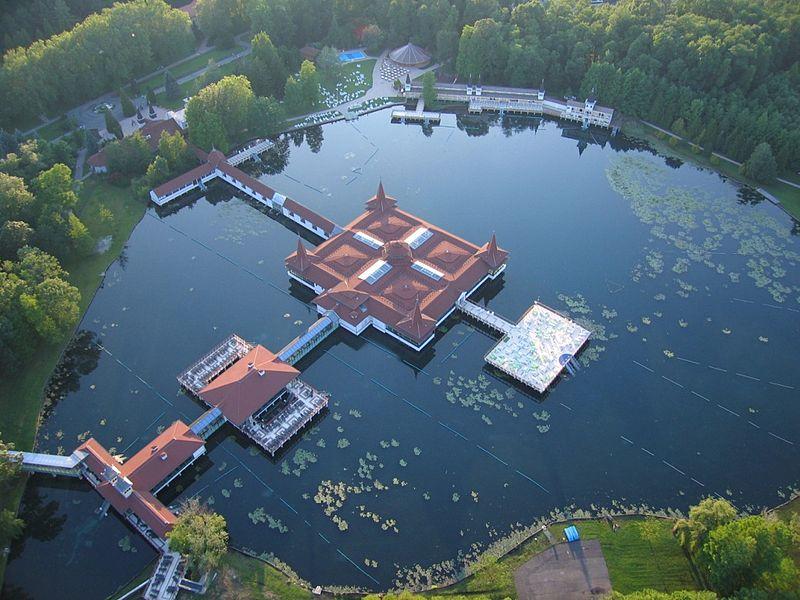 Lake Hévíz in Hungary