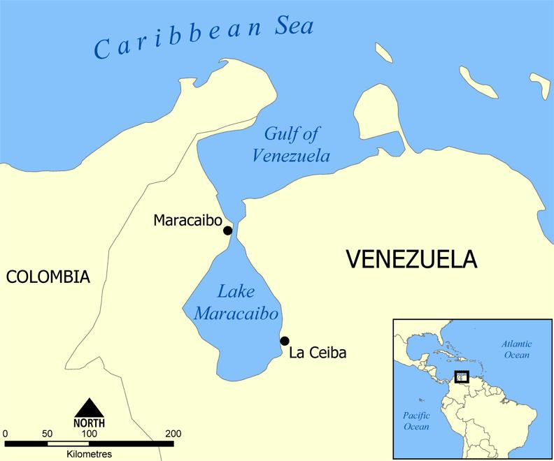 Lake Maracaibo in Venezuela