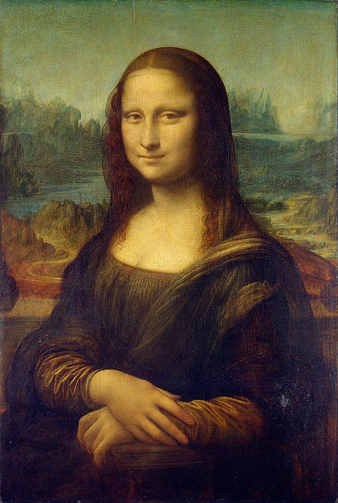 Famous artists and paintings, such as the Mona Lisa by Leonardo da Vinci