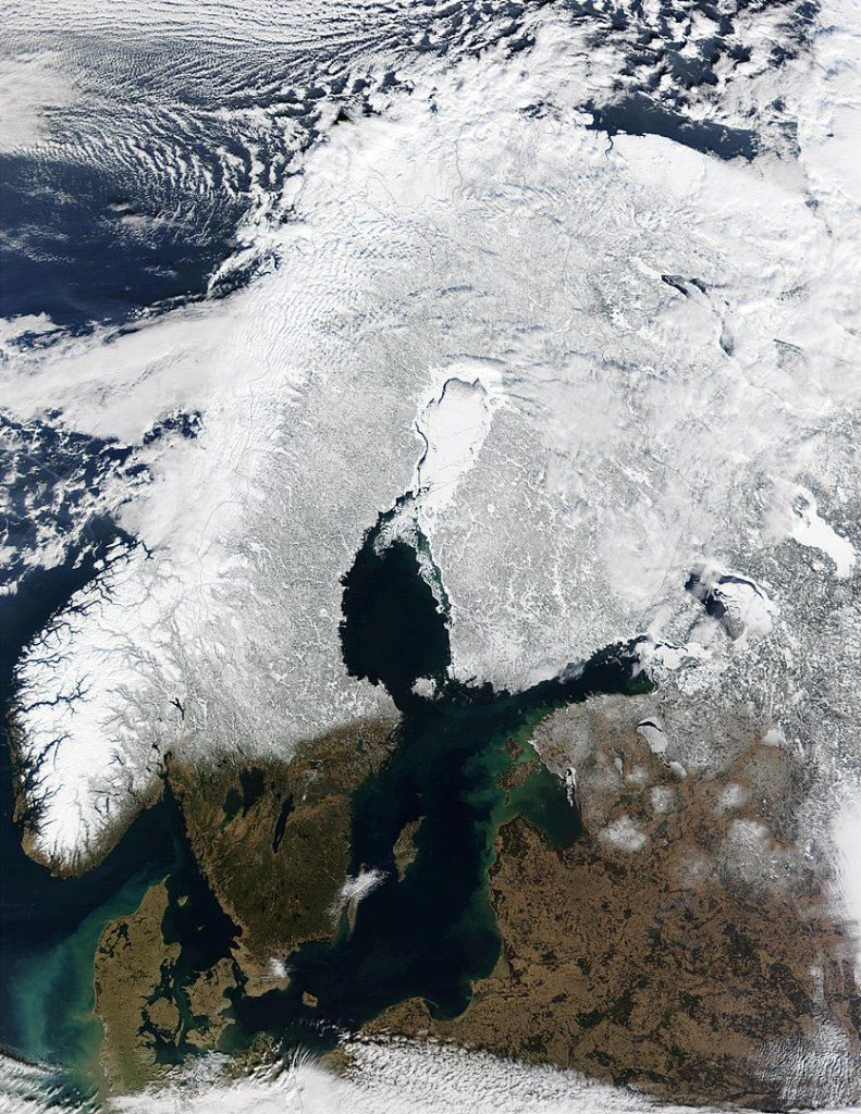 Snow Cover Across Scandinavia.