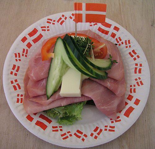 Smørrebrød  is a traditional Scandinavian open-faced sandwich.