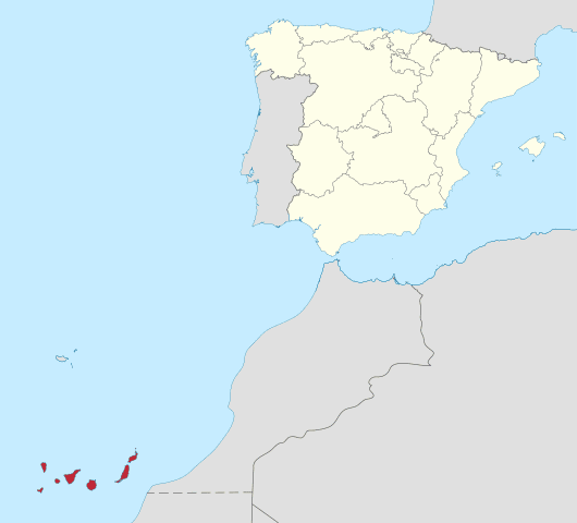 The Canary Islands are off the coast of Africa.