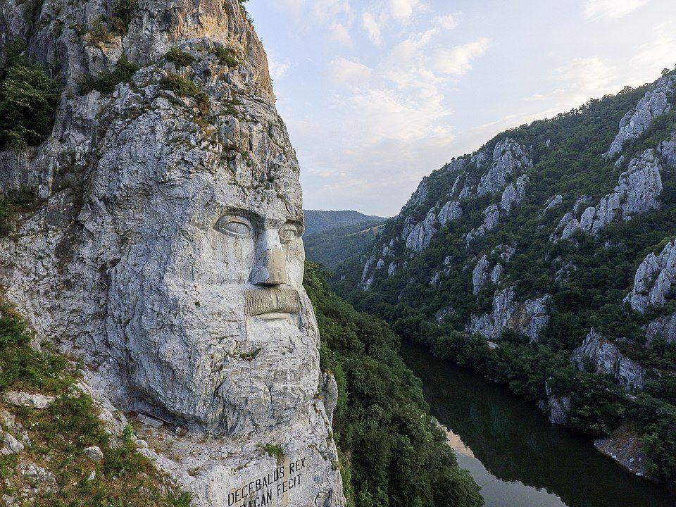 """Statue of """"Chipul de Decebal"""", Mehedinți County, Romania"""