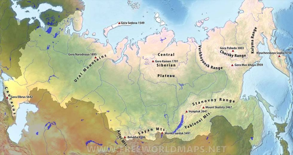 Russia's mountain ranges