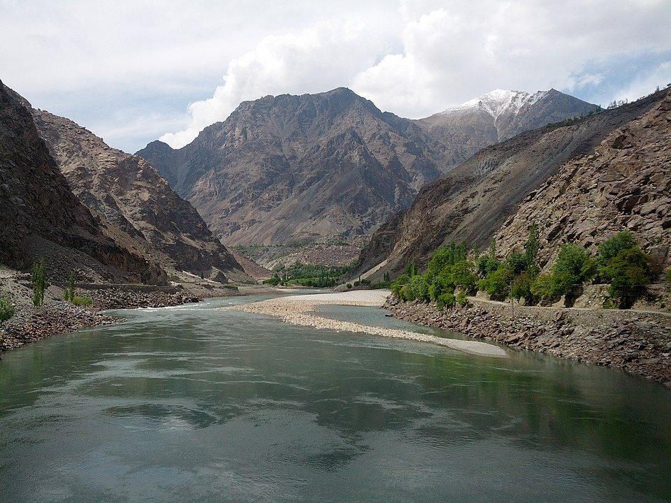 Indus River in Kharmang District, Pakistan.